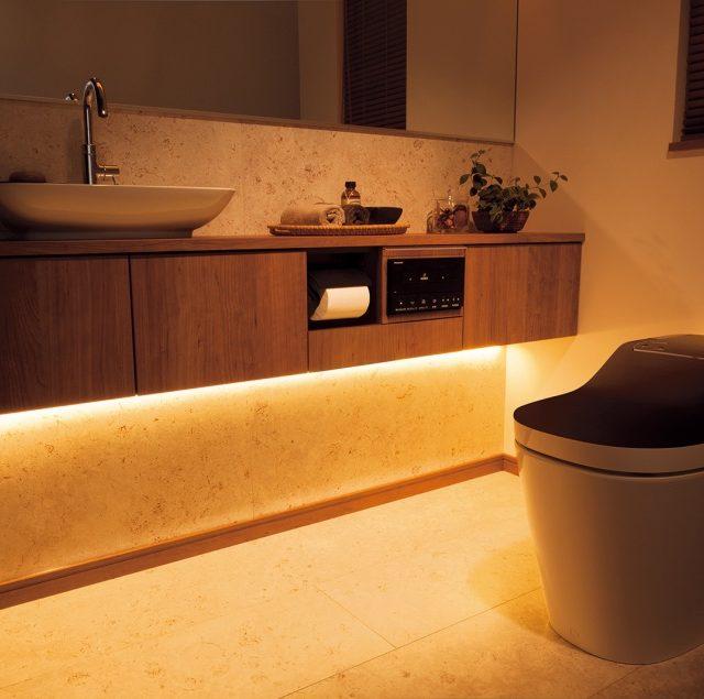 優しい光で眠気を妨げないトイレの照明